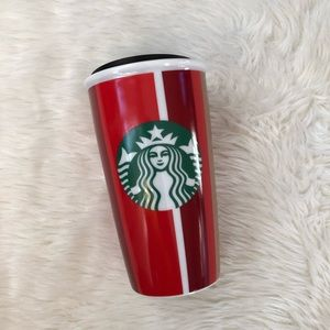 NWT Starbucks Striped Christmas Tumbler